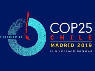 Il COP 25 sul clima si terrà fra il 2 e il 13 dicembre a Madrid