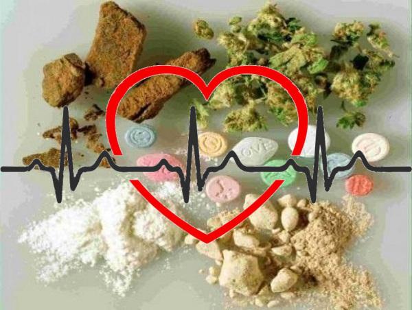 Correlazione tra problemi cardiaci e abuso di droghe anche leggere