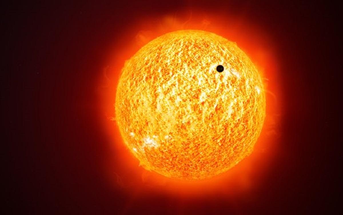Vista guidata per le scuole, del transito di mercurio sul sole