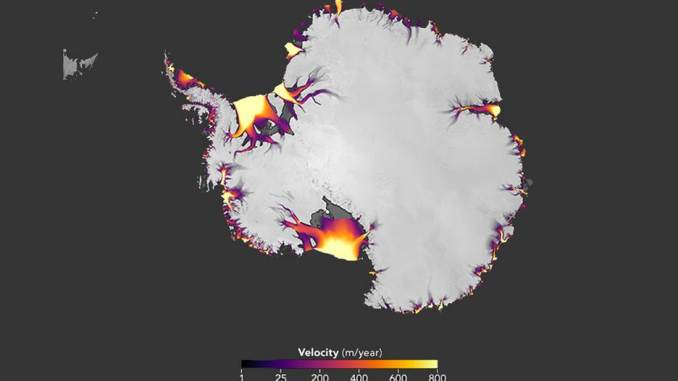Analisi satellitari dimostrano lo scioglimento ghiacci dell'Antartide
