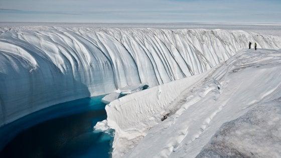 scioglimento dei ghiacci in groenlandia