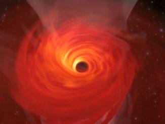 Misurata la velocità di rotazione di un buco nero