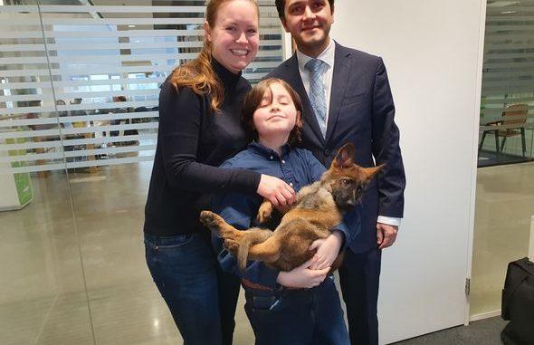 Laurent with his parents Lydia and Alexander and his dog Sammy. Photo | Norbine Schalij
