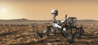 Illustrazione del rover della missione Mars 2020 della NASA (©NASA/JPL-Caltech)