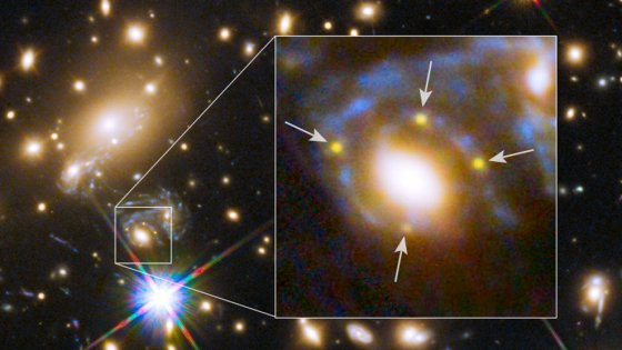 L'effetto di lensing fa pensare a un universo non piatto