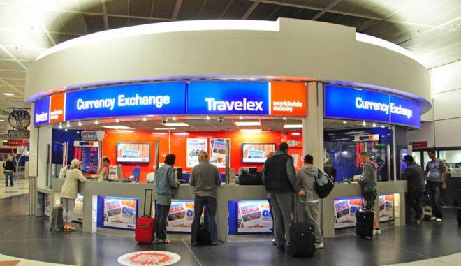 Uno dei tanti chioschi Travelex presenti in aeroporti, stazioni ferroviarie e centri città