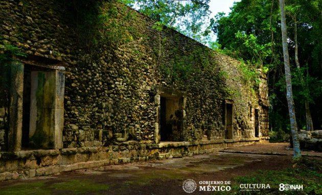 Una sezione del palazzo scoperto in Messico, nel sito archeologico di Kulubá.|MAURICIO MARAT | INAH