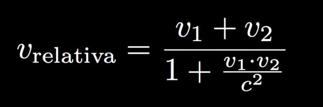 formula in relatività ristretta