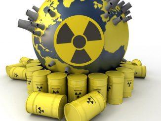 Residui di scorie radioattive dai depositi di stoccaggio