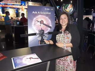 Clementina Sasso al Kennedy Space Center, in Florida (Usa).
