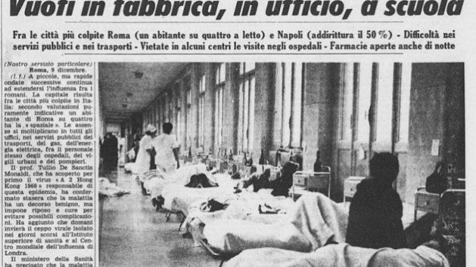 Un articolo dalla prima pagina della Stampa del 20 dicembre 1969