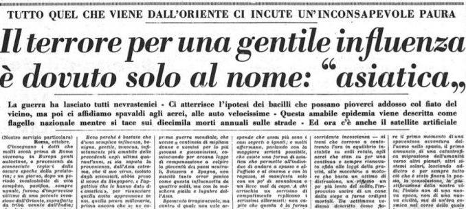 Un articolo pubblicato dalla Stampa il 6 ottobre del 1957