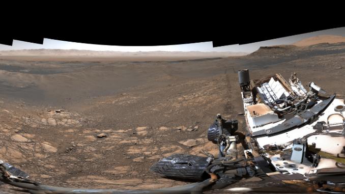 Il paesaggio di Marte fotografato dal rover Curiosity – © NASA/JPL-Caltech/MSSS