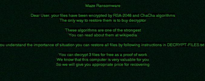 Ramsonware Maze