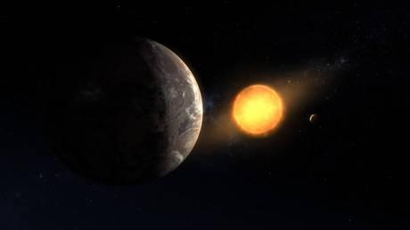 Rappresentazione artistica del pianeta Kepler-1649c in orbita intorno alla sua stella (fonte: NASA/Ames Research Center/Daniel Rutter)