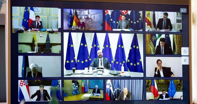 Vertice Ue:pacchetto da 500 miliardi operativo a giugno. Mandato alla Commissione su Recovery Fund urgente:nodo prestiti-sovvenzioni