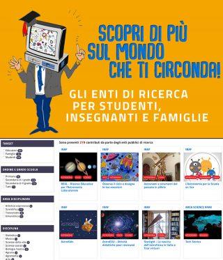 In alto, il logo dell'iniziativa. In basso, il portale e alcuni dei contenuti