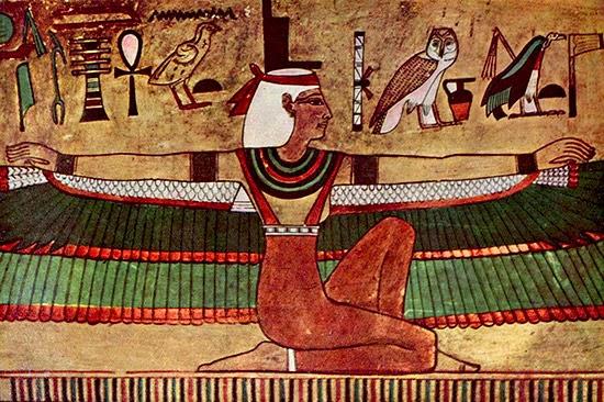 Uova preistoriche della misteriosa tomba di Iside