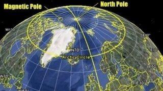 Quelle zone che influenzano il movimento del Polo Nord magnetico