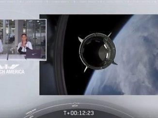 Partita da Cape Canaveral la Crew Dragon della SpaceX