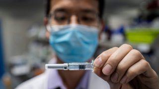 Un vaccino sperimentale per COVID-19 da Sinovac Biotech a Pechino.Credito: Nicolas Asfouri/AFP/Getty