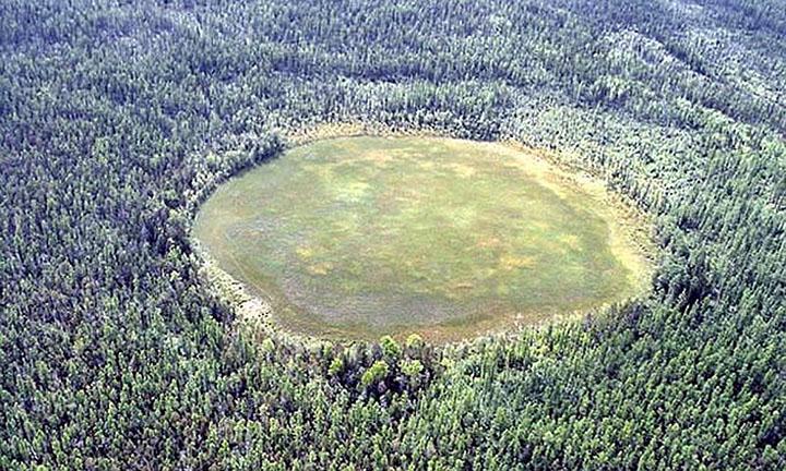Tunguska, punto dove la temperatura ha raggiunto probabilmente i 1000°C.