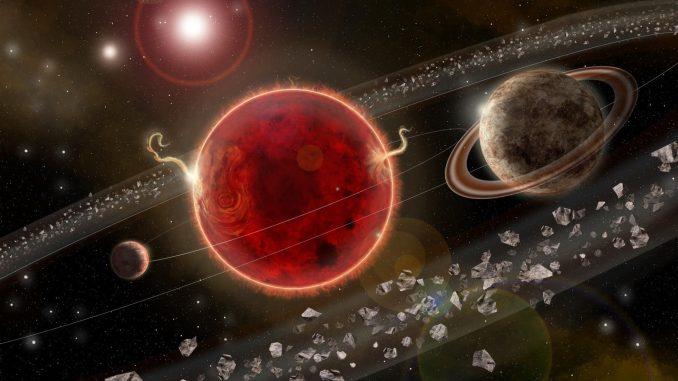 Rappresentazione artistica del sistema planetario attorno a Proxima Centauri. Crediti: Lorenzo Santinelli