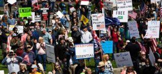 Manifestazione a Washington contro il lockdown con la partecipazione di no-vax (© Science Photo Library / AGF)