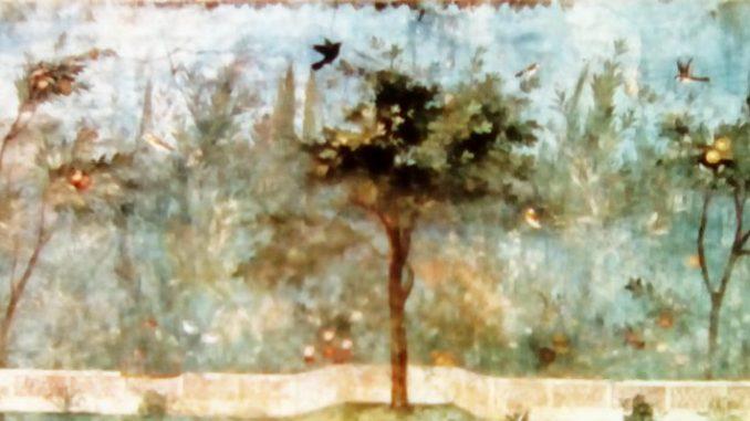 Affresco.Villa di Livia. Museo Nazionale Romano. Roma