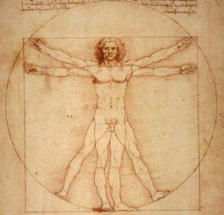Uomo Vitruviano di Leonardo da Vinci