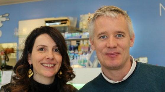 L'astronoma Marica Branchesi e il fisico Jan Harms