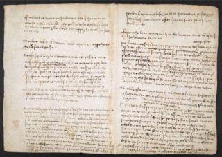 Le pagine del Codice Arundel con il testo analizzato