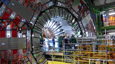 Il rilevatore dell'esperimento CMS al Large Hadron Collider (© Panja Luukka/CERN)