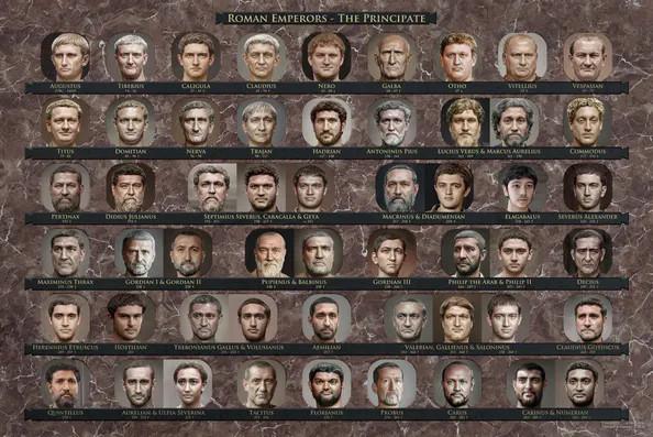 """Gli imperatori romani """"ricostruiti"""" da Daniel Voshart"""
