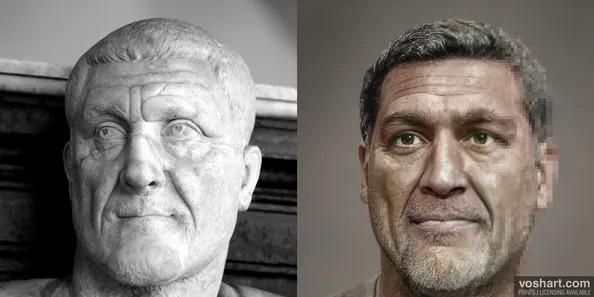 La ricostruzione dell'imperatore romano Massimino il Trace