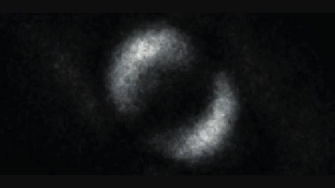 Prima foto in assoluto di entanglement quantistico (credito: Università di Glasgow)