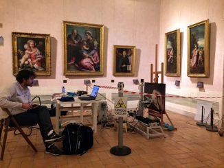 Studio delle tecniche pittoriche di Raffaello con il sistema scanner XRF