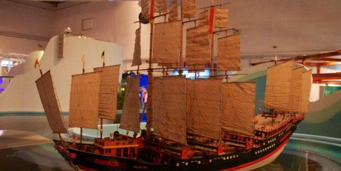 La nave del tesoro dell'ammiraglio Zheng He. Credit: Mike Peel.