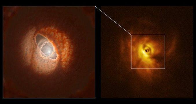 """Sistema planetario """"!multipiano"""" che ruota intorno a tre stelle"""