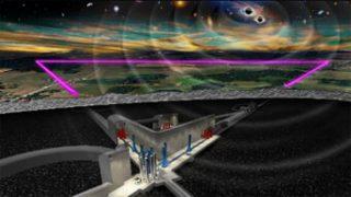Rappresentazione artistica del futuro Einstein Telescope. Crediti: ET steering committee
