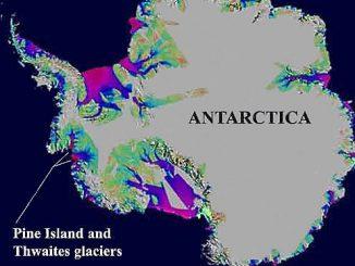 Scioglimento dei ghiacciai di Pine Island e Thwaites