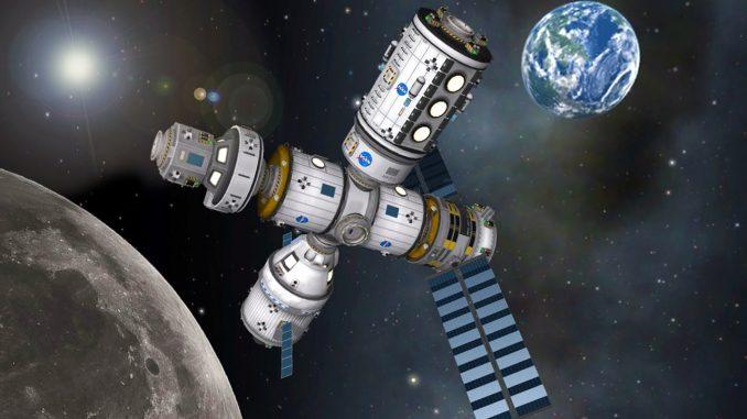 Una stazione spaziale lunare come punto di lancio per lo spazio
