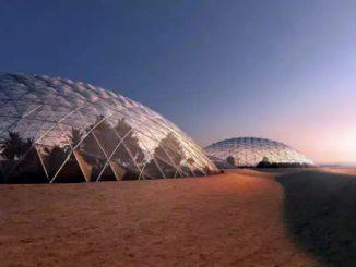 Cupole di vetro per proteggere future città su Marte