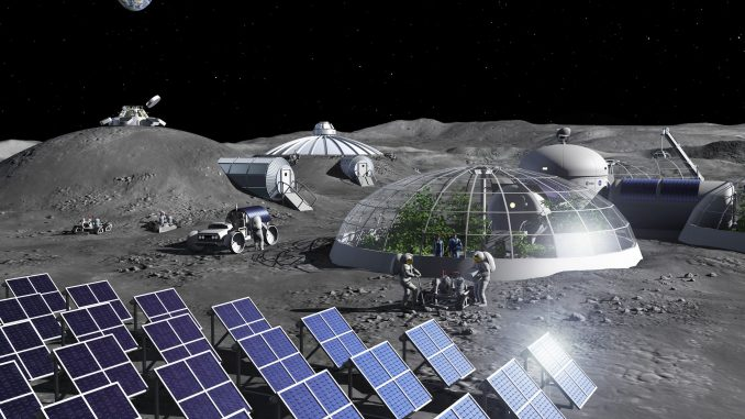 Creazione di ossigeno da regolite per la base spaziale lunare