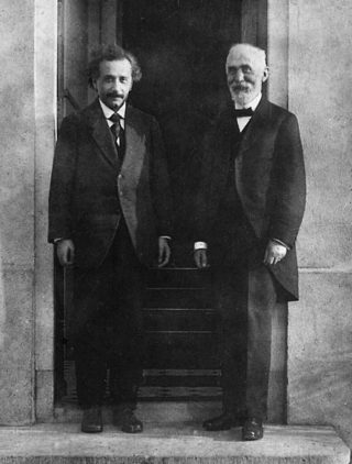 I fisici Albert Einstein e Hendrik Lorentz