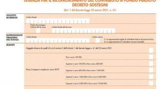 Decreto Sostegni, domande contributi a fondo perduto 2021. Scarica il pdf e le istruzioni
