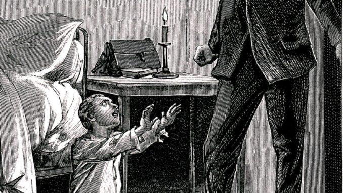 © AFP - L'enfant espion : acquaforte di Adrien Marie del 1899