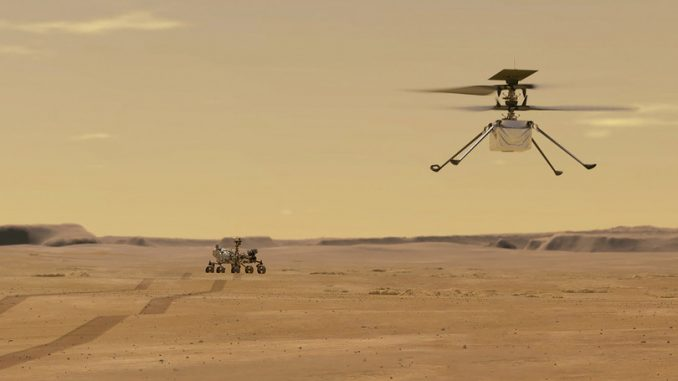 © Nasa - Il volo di Ingenuity su Marte