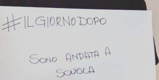 Foto dal post Facebook di Eva Bierce con cui ha lanciato l'hashtag #ilgiornodopo