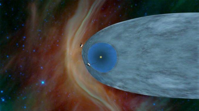 Una rappresentazione delle due sonde Voyager. Credit: NASA.
